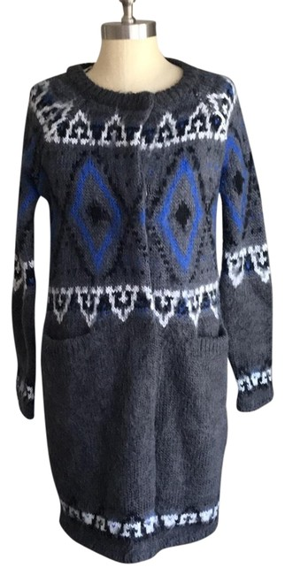 Preload https://item5.tradesy.com/images/free-people-charcoal-fair-isle-coat-sweaterpullover-size-2-xs-23545124-0-3.jpg?width=400&height=650