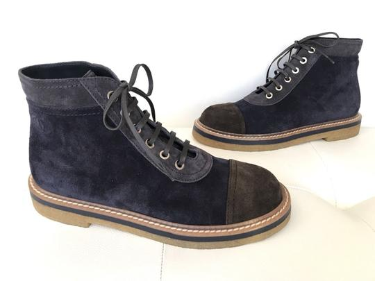 Chanel Blue Boots