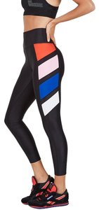 P.E NATION NEW P.E. NATION BLACK LEGGINGS GYM YOGA WORK OUT SPORTY PANTS NWT