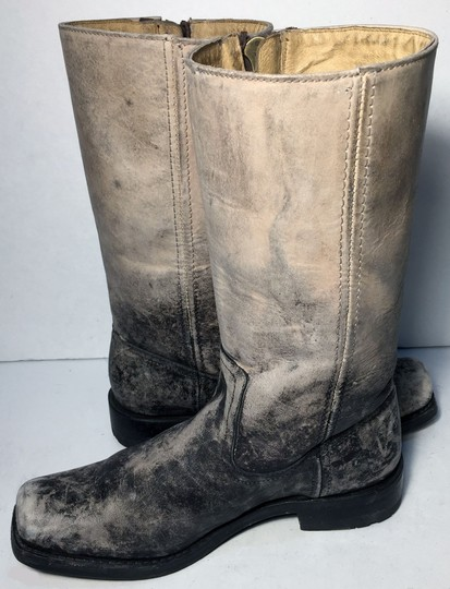 Frye 76286 Heath Outside Zip Size 8 Women Size 8 Gray Boots