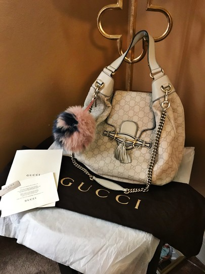 Gucci Emily Emilie Chain Guccissima Hobo Bag