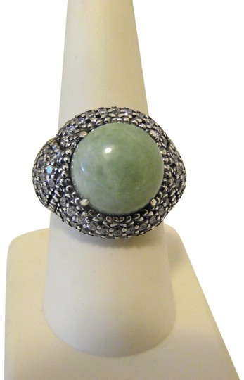 Preload https://img-static.tradesy.com/item/23545231/sterling-silver-green-round-and-cz-8-ring-0-1-540-540.jpg