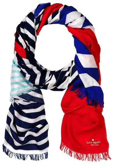 Preload https://item5.tradesy.com/images/kate-spade-blue-white-red-monaco-stripe-scarfwrap-23545234-0-1.jpg?width=440&height=440