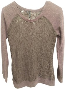 Maurices Lace Floral Top Purple