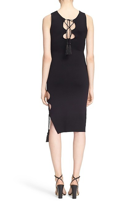 Preload https://img-static.tradesy.com/item/23545241/jonathan-simkhai-black-nwt-lace-up-detail-knit-mid-length-cocktail-dress-size-2-xs-0-0-650-650.jpg