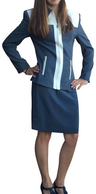 Preload https://item3.tradesy.com/images/gray-two-tone-women-s-skirt-suit-size-6-s-23545247-0-1.jpg?width=400&height=650