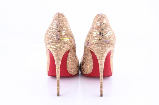 Christian Louboutin * Metallic Cork Pumps