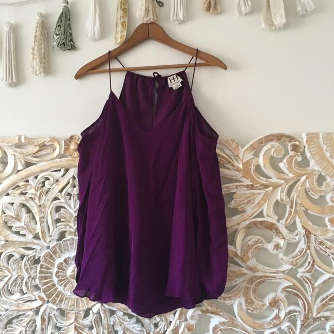 Haute Hippie Silk Top Purple