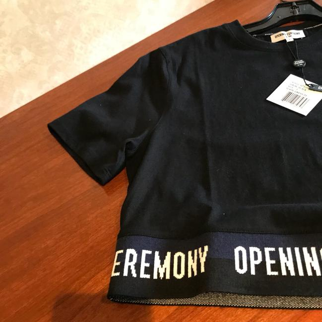 Opening Ceremony T Shirt black and white