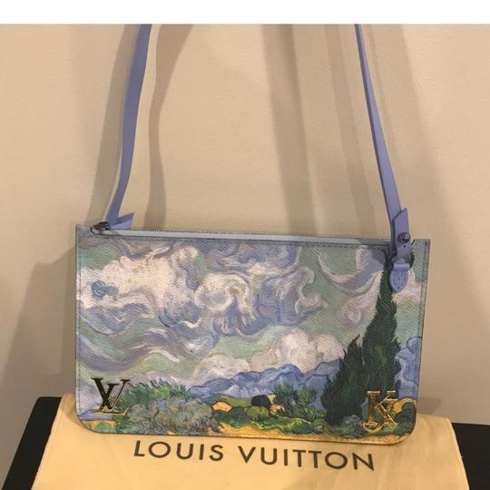 Louis Vuitton Van Gogh Jeff Koons Pochette Pouch Jeff Koon Blue Clutch