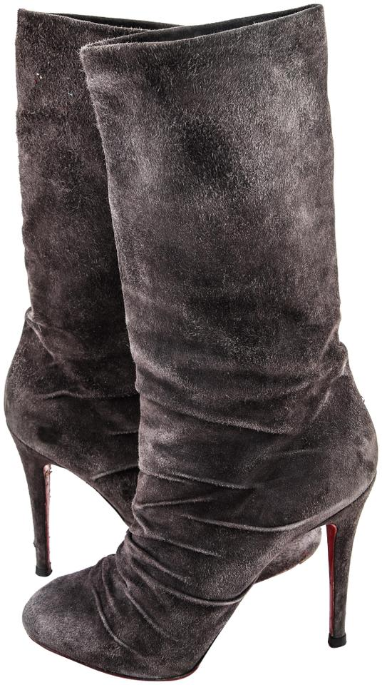 classic fit dec35 61ee5 Grey Suede Piros Boots/Booties
