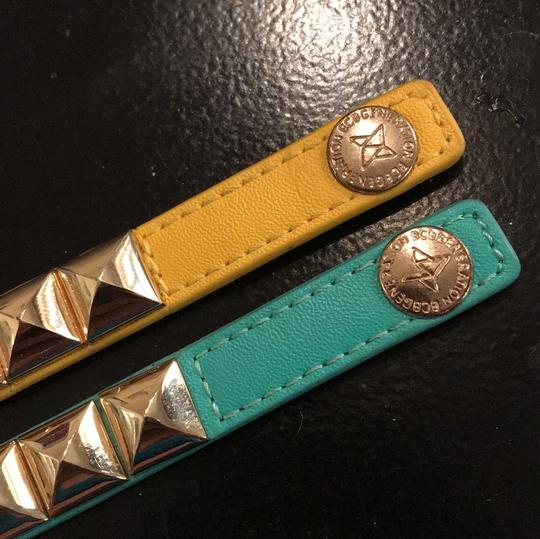 BCBGeneration Teal and Yellow (set of 2) studded bracelets