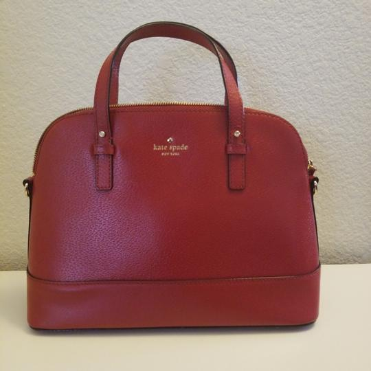 Preload https://item4.tradesy.com/images/kate-spade-handbag-with-strap-red-leather-satchel-23545313-0-0.jpg?width=440&height=440