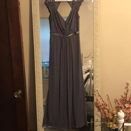 Preload https://item2.tradesy.com/images/david-s-bridal-grey-polyester-long-with-lace-cap-sleeves-formal-bridesmaidmob-dress-size-6-s-23545321-0-0.jpg?width=440&height=440
