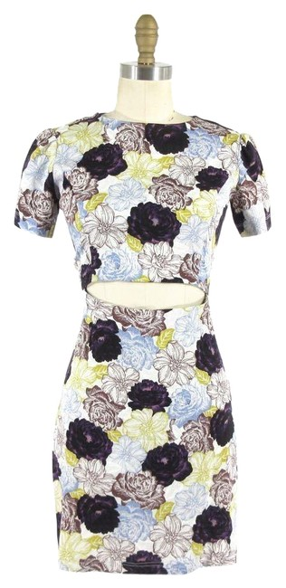 Preload https://img-static.tradesy.com/item/23545332/suno-purple-floral-patterned-open-front-short-sleeve-back-mid-length-night-out-dress-size-4-s-0-1-650-650.jpg