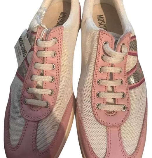 Preload https://item3.tradesy.com/images/moschino-pink-and-white-scarpe-sneakers-size-eu-36-approx-us-6-regular-m-b-23545337-0-1.jpg?width=440&height=440