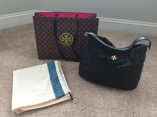 Tory Burch Distressed Faux Leather Hobo Bag