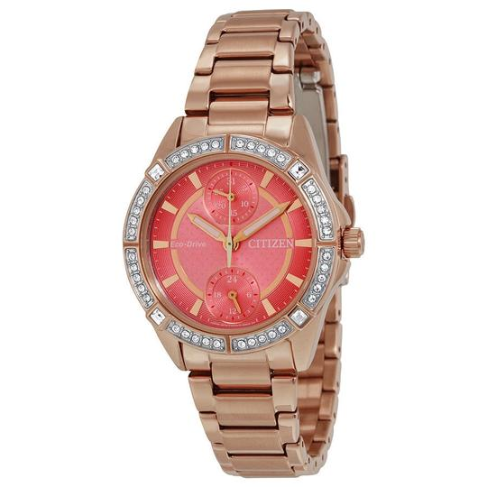 Preload https://item1.tradesy.com/images/citizen-pink-gold-tone-pov-eco-drive-coral-dial-ladies-watch-23545365-0-0.jpg?width=440&height=440