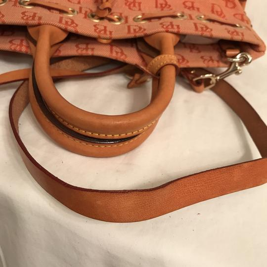 Dooney & Bourke Purse Handbag Cross Body Tote Shoulder Satchel in Orange Beige