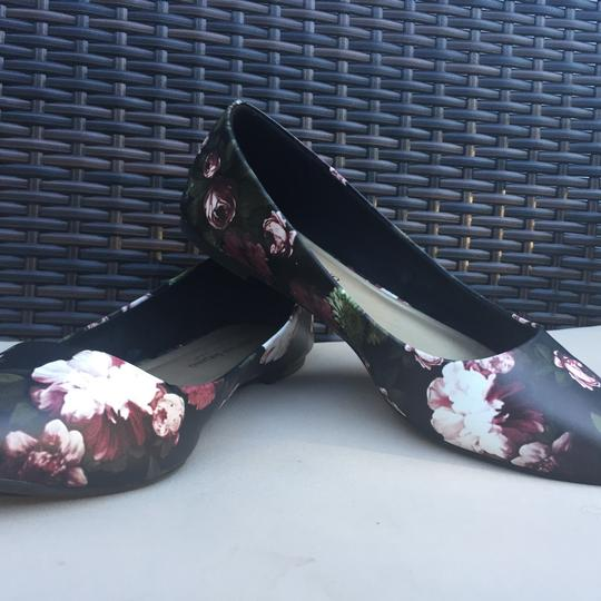 Christian Siriano black with flowers Flats