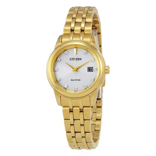 Preload https://item5.tradesy.com/images/citizen-silver-gold-tone-diamond-date-dial-ladies-watch-23545389-0-0.jpg?width=440&height=440