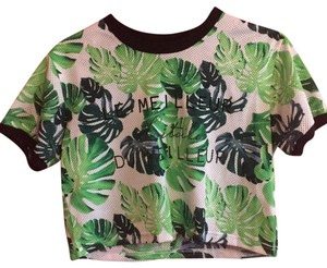 Forever 21 T Shirt green, black, white