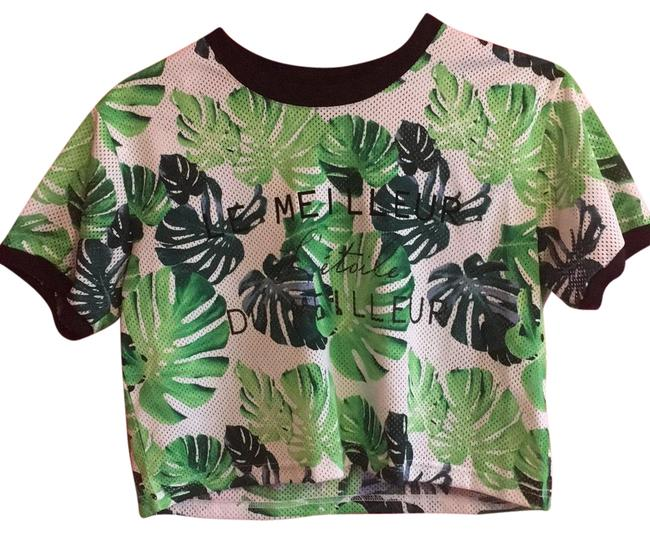 Preload https://item1.tradesy.com/images/forever-21-green-black-white-le-meilleur-jersey-tee-shirt-size-4-s-23545415-0-1.jpg?width=400&height=650