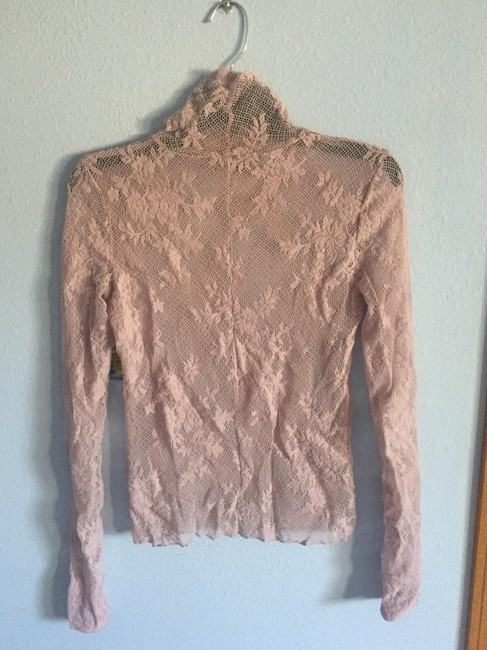 Free People Dusty Rose Stretch Lace New Sweater