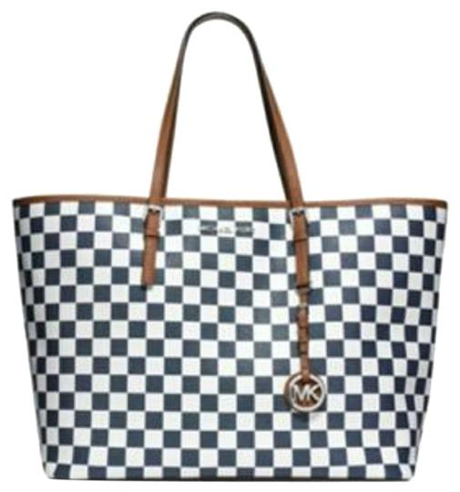 Michael Kors Tote in Navy and White