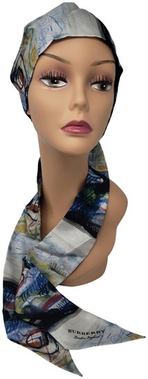 Preload https://item4.tradesy.com/images/burberry-blue-black-white-multicolor-taupe-monogram-printed-silk-twilly-scarfwrap-23545448-0-2.jpg?width=440&height=440