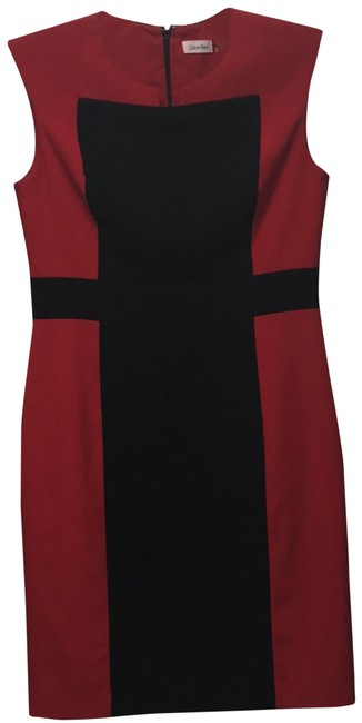Preload https://img-static.tradesy.com/item/23545453/calvin-klein-red-and-black-mid-length-workoffice-dress-size-10-m-0-1-650-650.jpg