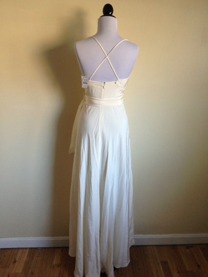 J.Crew Ivory Silk Tricotine Goddess Destination Wedding Dress Size 0 (XS)