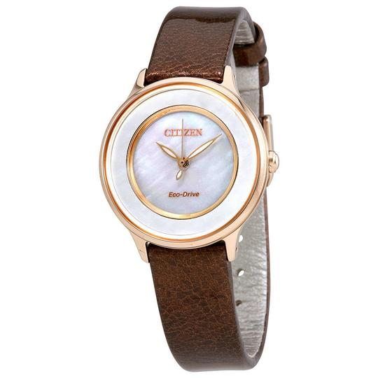 Preload https://item1.tradesy.com/images/citizen-mop-brown-circle-of-time-ladies-leather-watch-23545465-0-0.jpg?width=440&height=440