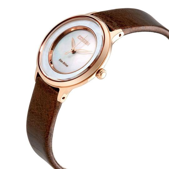 Citizen Circle Of Time Ladies Brown Leather Watch