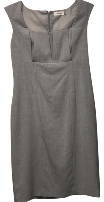 Preload https://item1.tradesy.com/images/calvin-klein-light-gray-mid-length-cocktail-dress-size-10-m-23545480-0-1.jpg?width=400&height=650