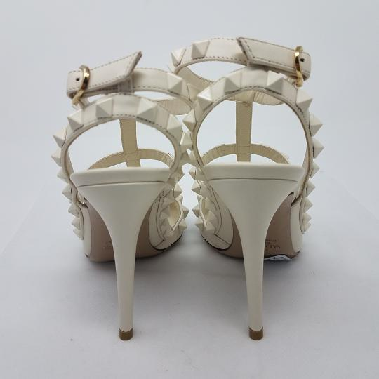 Valentino Ankle Strap Studded Spike Rockstud Limited Edition Off-White Pumps