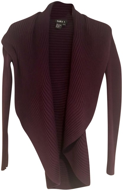 Preload https://item4.tradesy.com/images/deep-purple-large-collar-wrap-style-ribbed-sweaterpullover-size-8-m-23545488-0-1.jpg?width=400&height=650