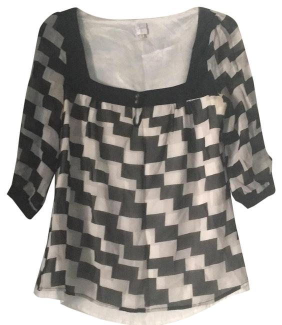 Preload https://item4.tradesy.com/images/aqua-stop-black-and-white-unknown-blouse-size-4-s-23545498-0-1.jpg?width=400&height=650