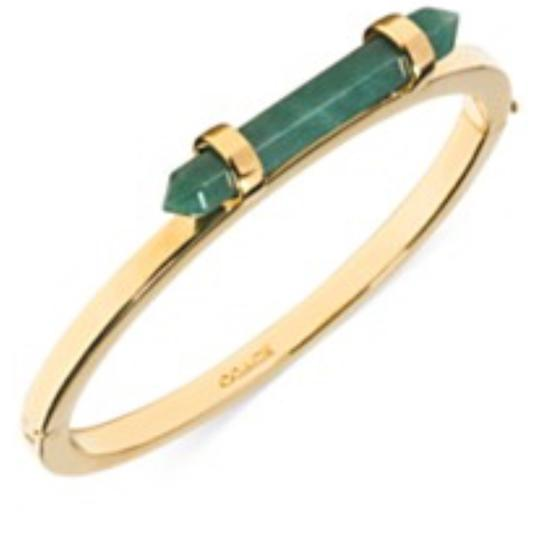 Preload https://item5.tradesy.com/images/coach-green-lucky-amulet-hinged-bangle-bracelet-23545509-0-0.jpg?width=440&height=440