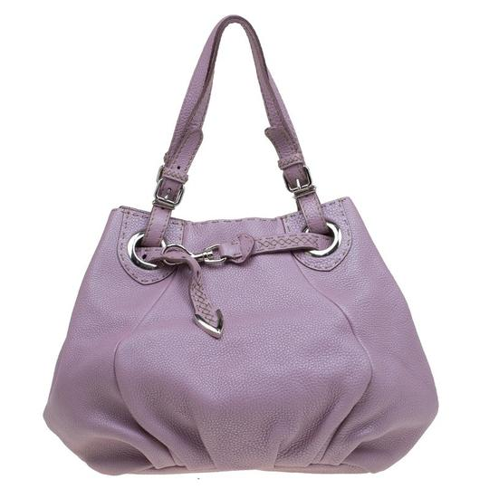 Preload https://item2.tradesy.com/images/fendi-metallic-lilac-pebbled-selleria-pomodorino-belt-pink-leather-and-canvas-shoulder-bag-23545571-0-0.jpg?width=440&height=440