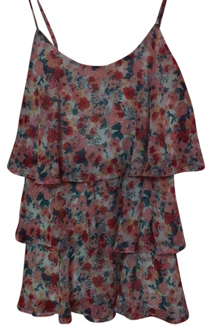 Preload https://item4.tradesy.com/images/candie-s-pink-blue-green-floral-blouse-size-4-s-23545643-0-1.jpg?width=400&height=650