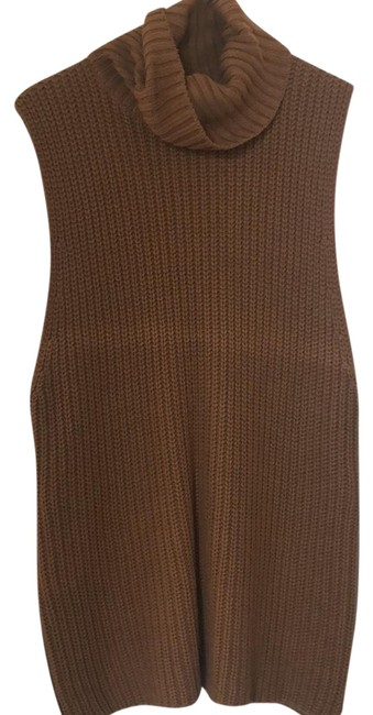 Preload https://img-static.tradesy.com/item/23545651/forever-21-tan-sleeveless-chunky-knit-sweaterpullover-size-8-m-0-1-650-650.jpg