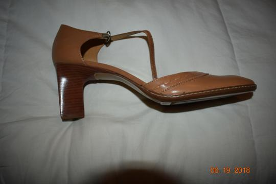 Etienne Aigner Leather Tan Pumps