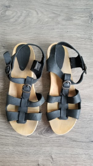 Sanita Leather black, brown Sandals