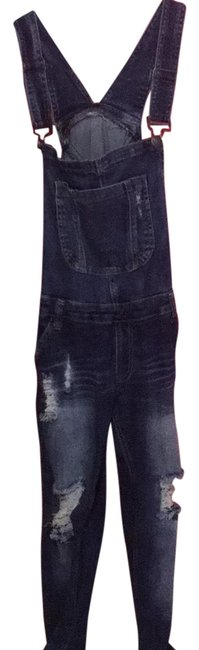 Preload https://item2.tradesy.com/images/blue-dark-rinse-overalls-straight-leg-jeans-size-4-s-27-23545676-0-1.jpg?width=400&height=650