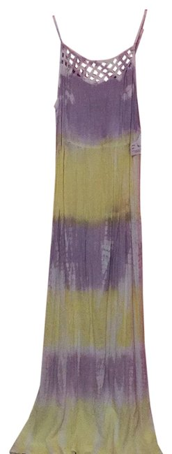 Preload https://item1.tradesy.com/images/yellow-and-purple-tie-dye-long-casual-maxi-dress-size-8-m-23545705-0-1.jpg?width=400&height=650