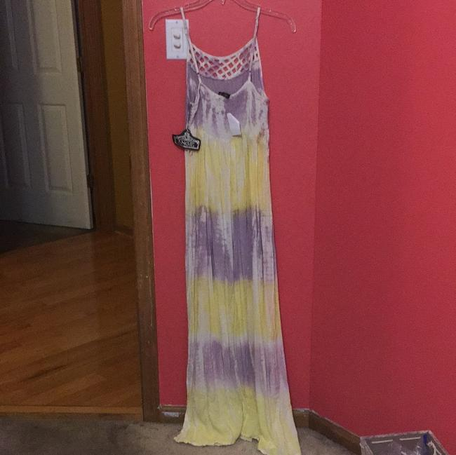 yellow and purple Maxi Dress by Angle