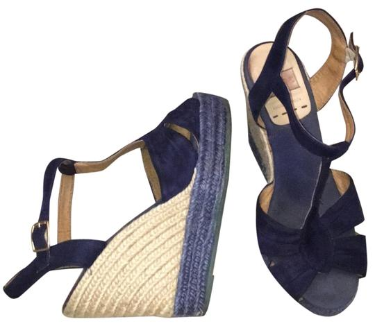 Preload https://img-static.tradesy.com/item/23545756/kanna-blue-suede-with-buckle-wedges-size-eu-38-approx-us-8-regular-m-b-0-1-540-540.jpg