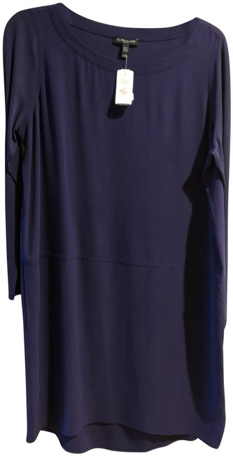 Preload https://img-static.tradesy.com/item/23545808/eileen-fisher-purple-long-sleeve-silk-straight-hi-lo-smal-short-casual-dress-size-petite-4-s-0-1-650-650.jpg