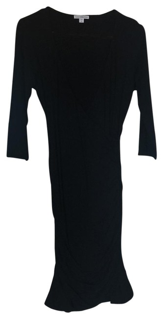 Preload https://item5.tradesy.com/images/james-perse-black-body-con-34-sleeve-mid-length-night-out-dress-size-8-m-23545854-0-1.jpg?width=400&height=650